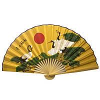 Веер настенный бамбук+ткань (50см) Код:20716F