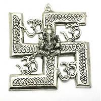 Ганеша с символом солнца (16х14,5х см)(Непал) Код:27558
