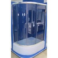Душевая кабина асимметричная Santeh 1115 F/G 115х85 серый
