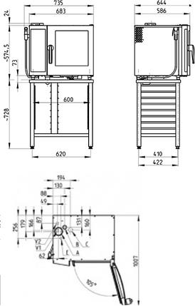 Пароконвектомат Retigo B623i Vision II, фото 2