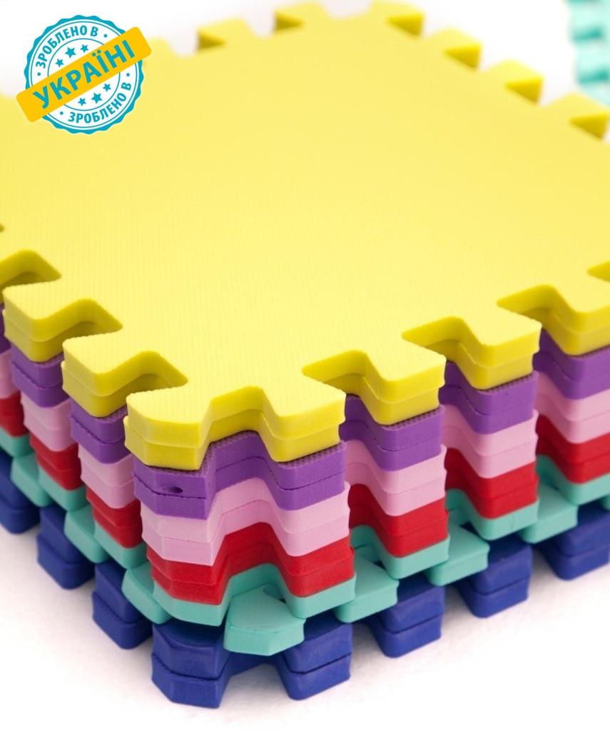 """М'яка підлога (килимок-пазл 30*30*1 см) Eva-Line """"Веселка"""" різнобарвний"""