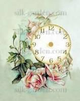 Принт для вышивки лентами часы-1043