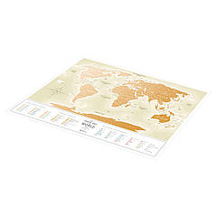 Скретч Карта Мира Travel Map Gold