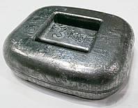 Груз для подводной охоты 3 кг; закруглённый