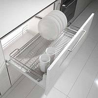 Сушкa для посуды выдвижная с доводчиком хром