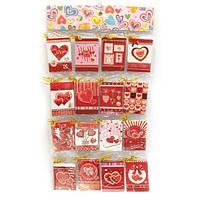 Валентинки (набор 128 штук)(открытка 9,5х6,5 см) Код:29813