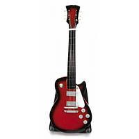 Гитара миниатюра дерево красная (20,5х7х1,5 см) Код:29994