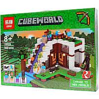 Конструктор Lego Minecraft Lepin 18028 База на водопаде (аналог Лего Майнкрафт 21134)