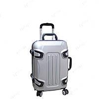 Стильный пластиковый чемодан на колесах ручная кладь, маленький SM51018219, фото 1