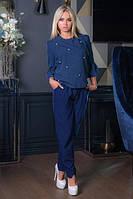 Блузка Бусинка темно-синий