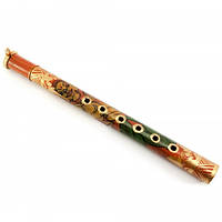 Флейта бамбуковая расписная (30,5х2,5х4 см) Код:29892