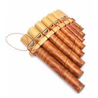 Флейта Пана бамбук (15х11,5х4 см) Код:29617