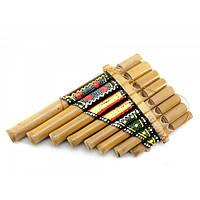 Флейта Пана расписная бамбук (19,5х12,5х3,5 см) Код:29998