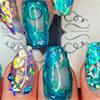 Аквариумный дизайн ногтей по новой технологии совмещения типс