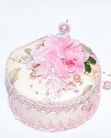 "Шкатулка тканевая ""Розы""  (10*11*5 см)"