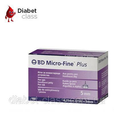 """Иглы для шприц-ручек BD Micro-Fine+ """"МикроФайн"""" 5мм 100шт ( 5 упаковок )"""