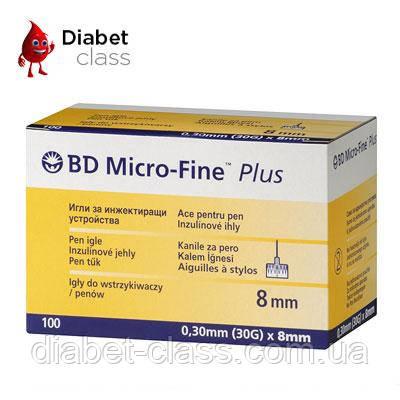 """Иглы для шприц-ручек BD Micro-Fine+""""МикроФайн"""" 8мм 100шт ( 2 упаковки )"""