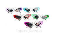 Карнавальные очки «бабочка» в цветной оправе Код:31892816