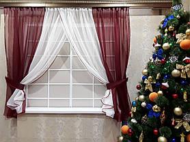 Комплект штор Кларис Бордо, кухонные, фото 3