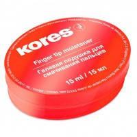 Увлажнитель подушечка для смачивания пальцев KORES гелевая 32616