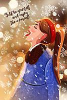 """Открытка новогодняя """"Snow"""""""