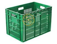 Ящики пластиковые с добавлением первичного и вторичного сырья 600x400x420