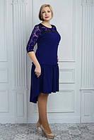 Платье больших размеров с удлиненной спинкой