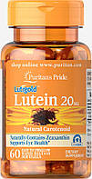 Puritan's Pride	Lutein 20 mg with Zeaxanthin 60 softgels