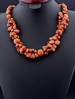 Бусы из авантюрина с выраженной передней частью, коричневый, Золотой Песок, 55 см, код украшения: 019384 пышные