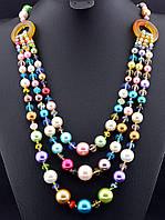 Ожерелье из разноцветной майорки (жемчуг майорка) 70 см (018143)