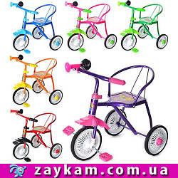 Велосипед 3 колеса, клаксон, 6 цветов, 51-52-40 см