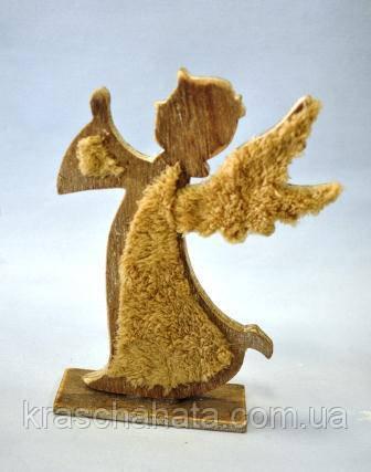 Ангел Рождество, 23х17 см, дерево, сувенир новогодний настольный,  Днепр