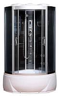 Гидробокс SAN BO978 (90*90*215) поддон 30/45см чёрный сатин/серое