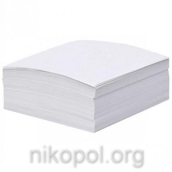 Папір для нотаток 500 аркушів, блок 90х90х45мм