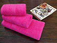 Полотенце махровое 40х70 розовый Узбекистан