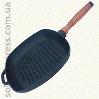 Сковорода чугунная гриль 260 х 260 мм