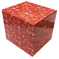Картонная упаковка для кружек с новогодним принтом