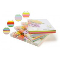 Бумага цветная для принтера Микс Насыщенная А4 80г/м 100л. SPECTRA color Радуга 5*20л.