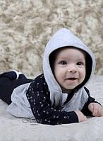 """Кофта, штанишки """"Серый футер"""" (68-80 мал.) НЯНЯ"""