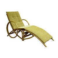 Кресло шезлонг Майами плетенное из ротанга
