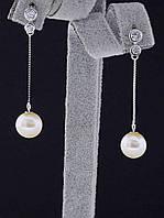 Серьги натуральный жемчуг (022085)