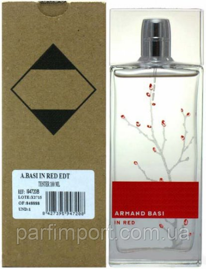 Armand Basi in Red EDT 100 ml TESTER Туалетная вода женская (оригинал подлинник  Испания)
