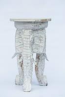 Стілець на трьох слонах 50 см, білий
