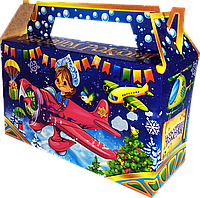 Недорогая Новогодняя Упаковка для сладких подарков до 400г