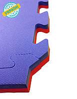 Мат татами Eva-Line синий/красный 100*100*2.6 см