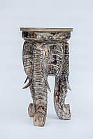 Стул на трех слонах 50 см, коричневый