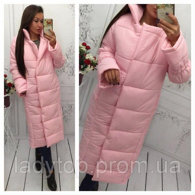Женская Зимняя Розовая, Чёрная, Серая КУРТКА Длинная  продажа, цена ... b5d64b053ae
