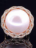 Кольцо с жемчугомКольцо майорка  в позолоте 18 к, 750 проба, бренд Fashion, 16 размера (022470-160)