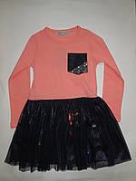 Платье нарядное с фатиновой юбкой для девочек TOONTOY от 5 до 8 лет.