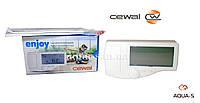 Термостат программируемый CEWAL Enjoy цифровой для систем отопления (белый) Италия
